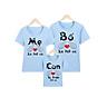 áo thun gia đình xanh BA MẸ LÀ TẤT CẢ CON LÀ TRÊN TẤT CẢ -GĐM17