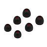 Replacement Earbud Earcaps L M S Size In-ear Earphone Tips 3.8mm Silicone Ear Caps Ear Sleeve For Sony Headphones, 3 - Black, Red