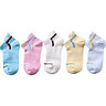 Anji people (NanJiren) children's socks boys and girls sports boat socks breathable 5 pairs of girls - mixed color L suitable (3-6 years old)