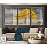 Bộ tranh phong cảnh chủ đề TÁN CÂY gồm 3 tấm ghép chất liệu tranh in giấy ảnh bề mặt gương bóng, cốt gỗ MFC-A23128055