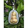 Dây chuyền Phật Bất Động Minh Vương Mặt Ngọc Nerphrite Mạ vàng 24K  Cho Nam Mệnh Kim TEN1