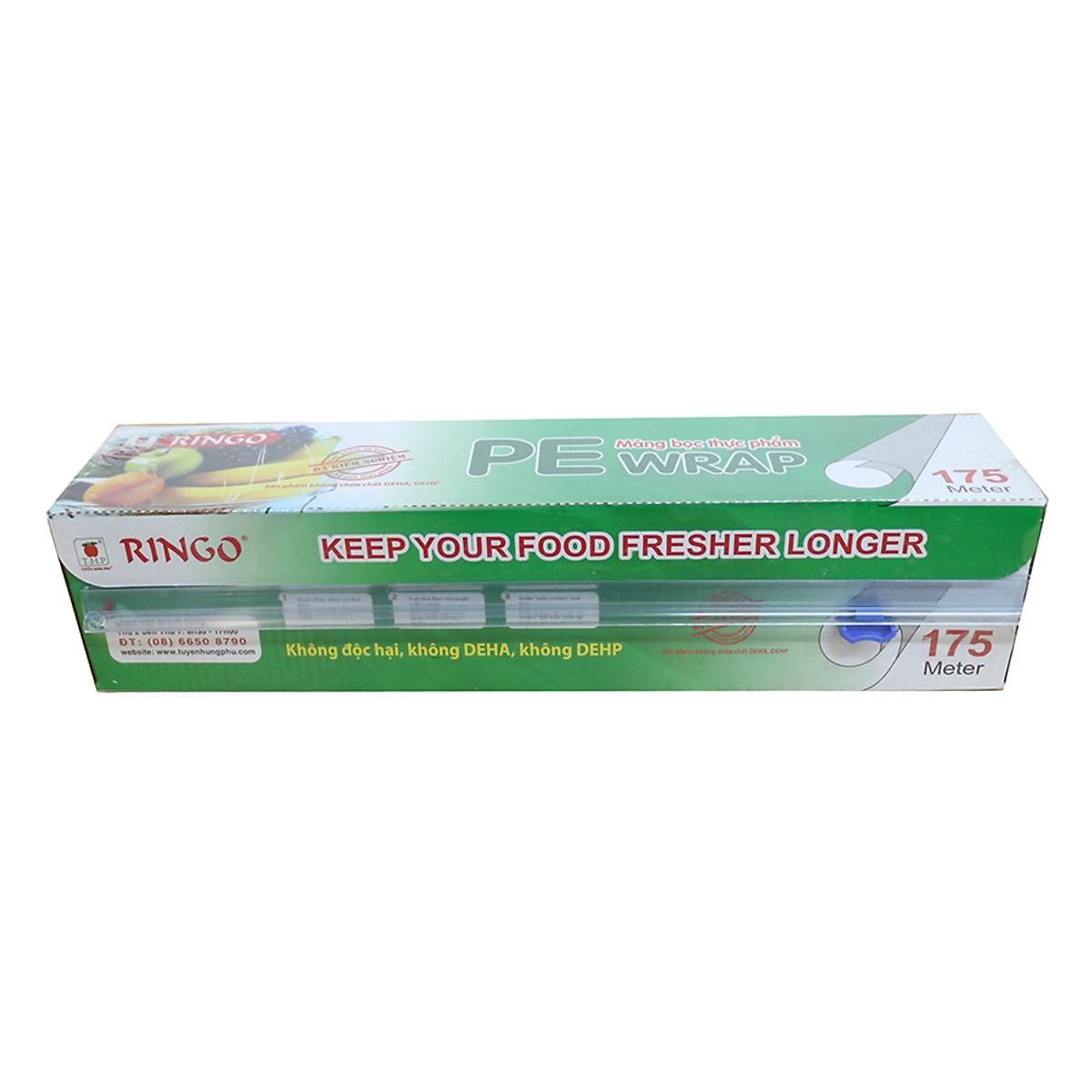 Hình đại diện sản phẩm Màng Bọc Thực Phẩm PE Ringo 175 (30cm x 175m)