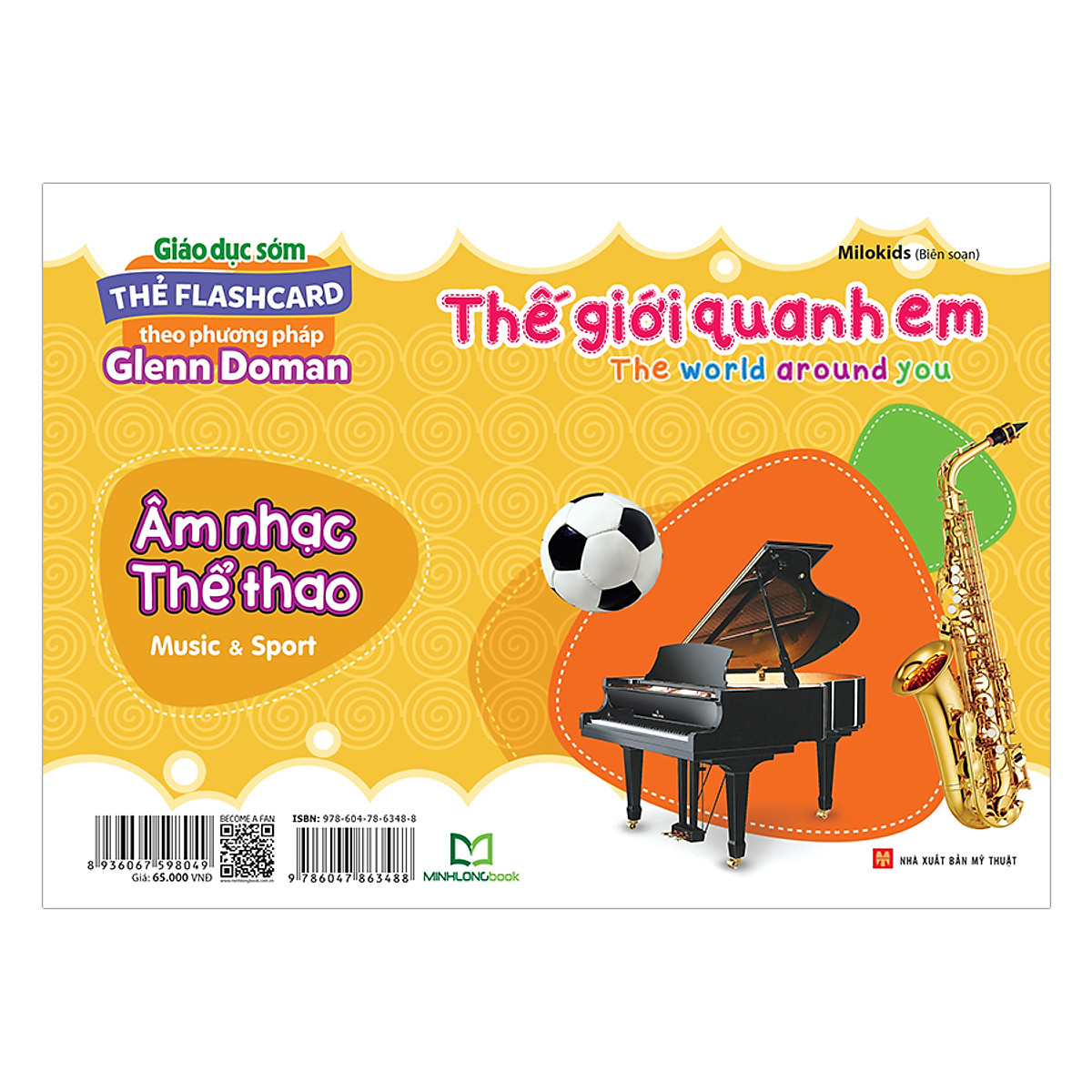 Thẻ Flashcard Theo Phương Pháp Glenn Doman - Thế Giới Quanh Em: Âm Nhạc - Thể Thao