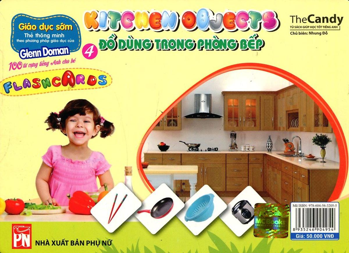 Flashcard Dạy Trẻ Theo Phương Pháp Glenn Doman - Đồ Dùng Trong Phòng Bếp