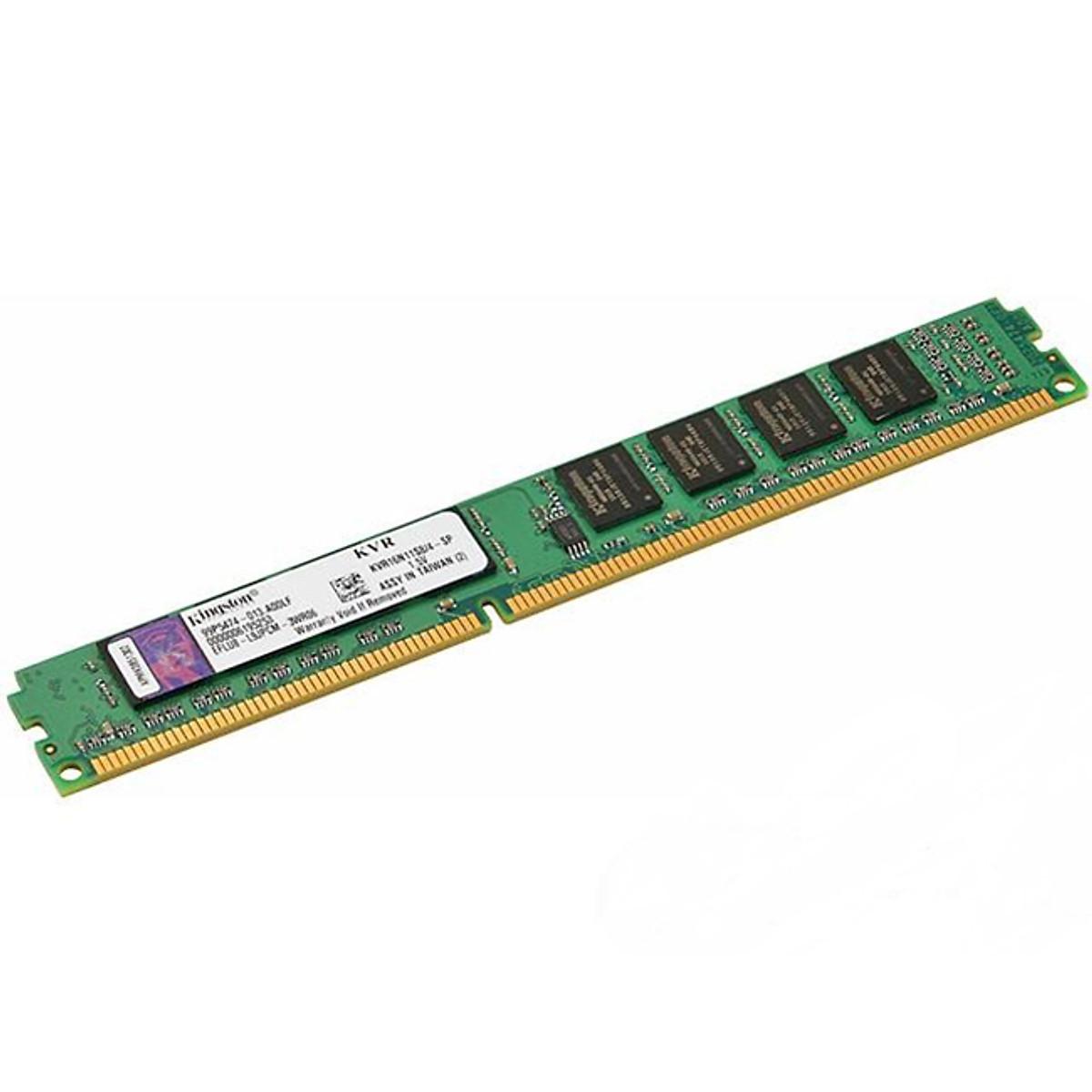 Hình đại diện sản phẩm RAM PC Kingston 8GB DDR3-1600 LONG DIMM - KVR16N11/8