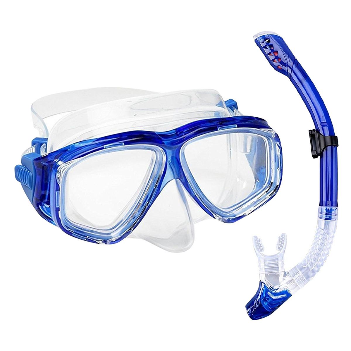 Mặt Nạ Lặn Ống Thở, Cận 7.0 Độ, Mắt Kính Cường Lực, Ống Thở Ngăn Nước POPO Myopia-Mask-Set-7.0 - 2