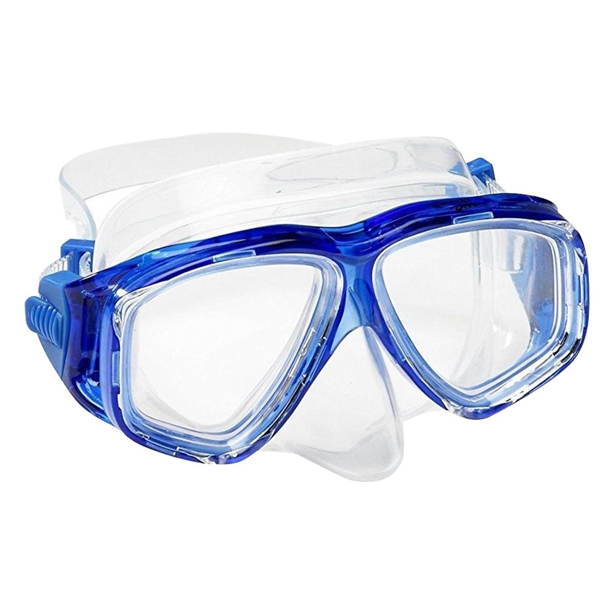 Mặt Nạ Lặn Ống Thở, Cận 6.0 Độ, Mắt Kính Cường Lực, Ống Thở Ngăn Nước POPO Myopia-Mask-Set-6.0 - 1
