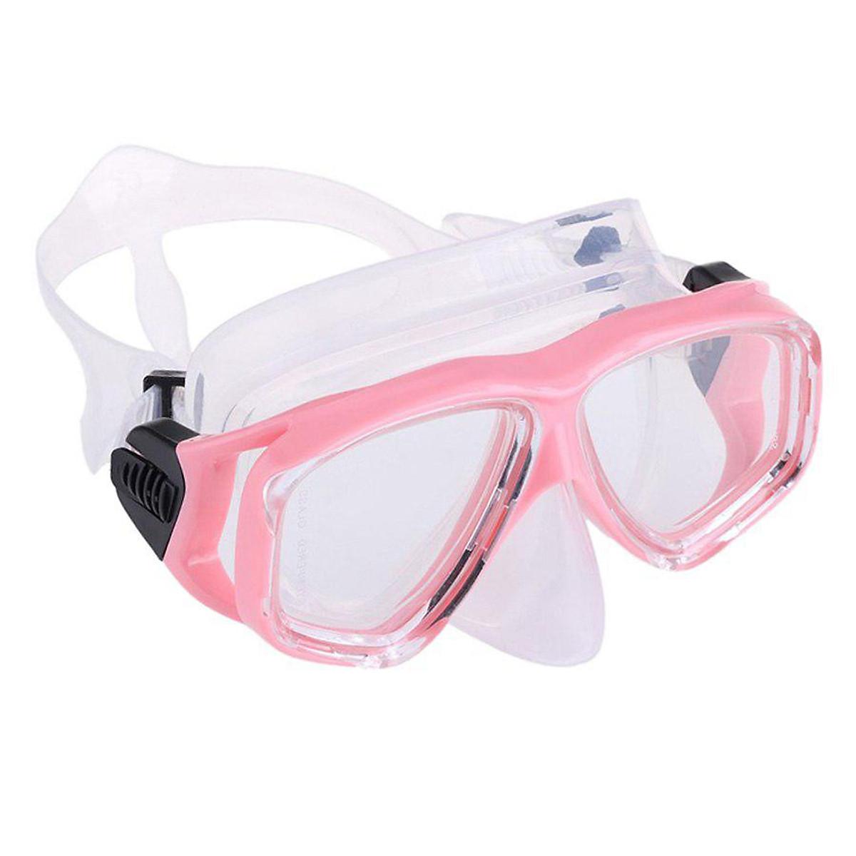 Kính Lặn, Mặt Nạ Lặn Biển Mắt Kính Cường Lực Cao Cấp POPO NormalMask-Pink - Hồng - 2