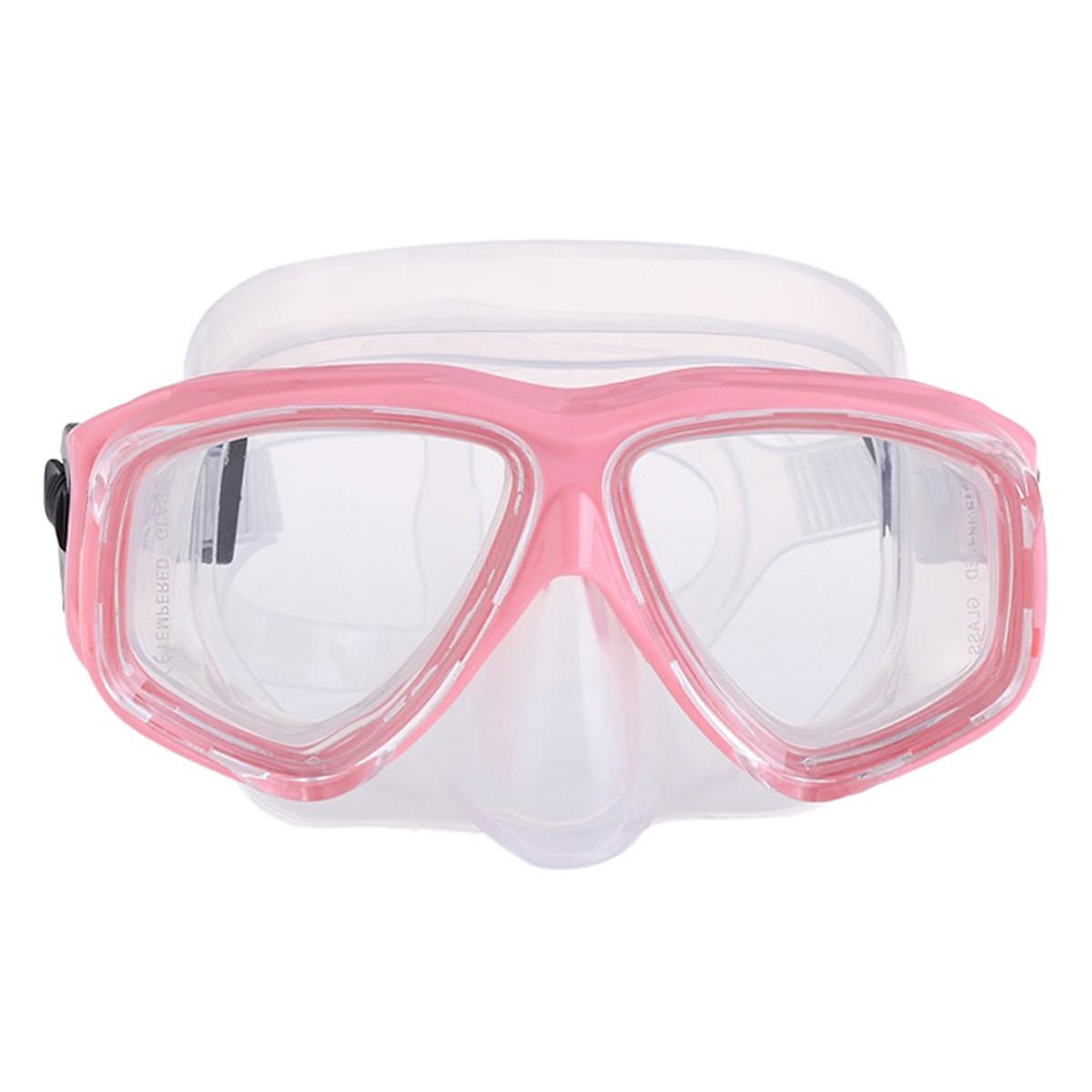 Bộ Kính Lặn Ống Thở Gopro Snorkel-Set-Pink - Hồng - 1