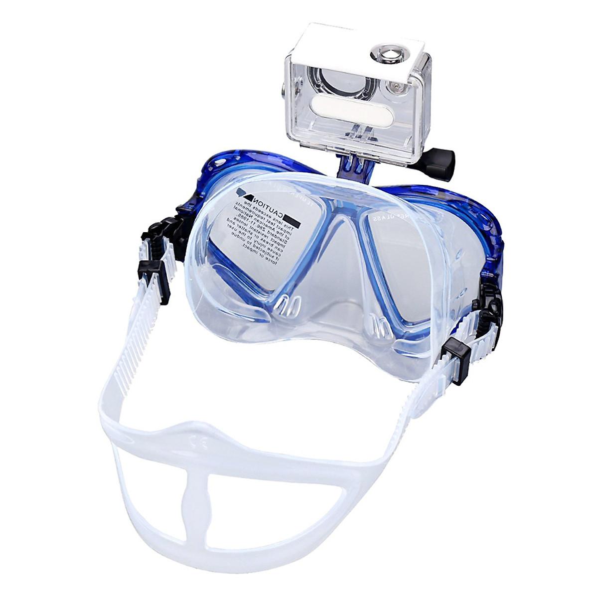 Kính Lặn Cường Lực Gắn Được Gopro POPO Swim-Mask Gopro-Blue - 1