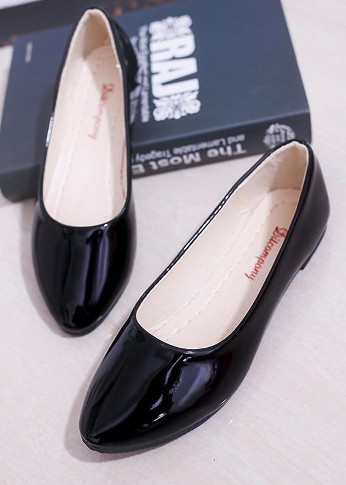 Giày búp bê da bóng mềm không đau chân , dáng chuẩn 96309 55
