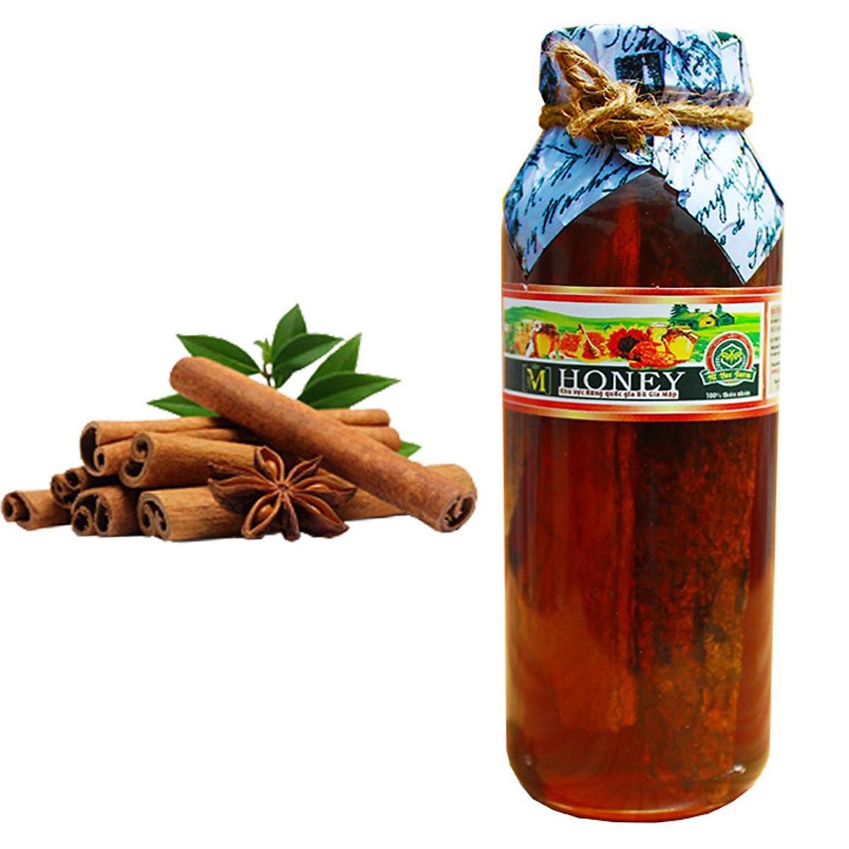 M Honey - Mật ong rừng ngâm Nhục Quế - Hỗ trợ tim mạch, chức năng não bộ và sinh lý - 500ml