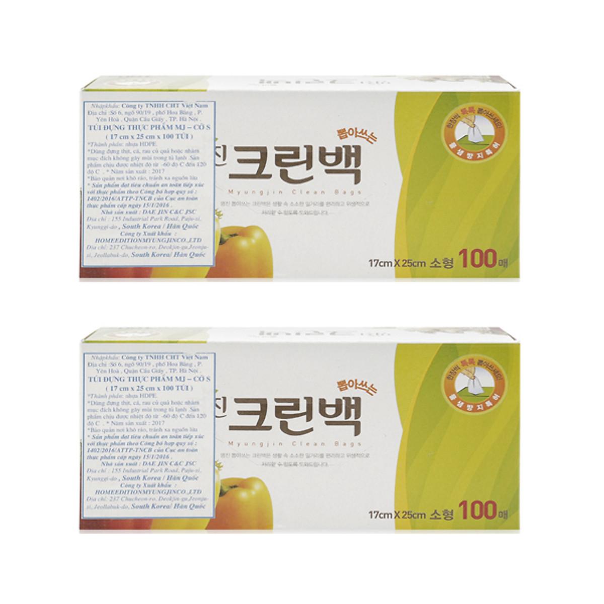 Hình đại diện sản phẩm Set 2 bộ 100 túi đựng thực phẩm Myungjin sinh học (size 17 x 25cm) cao cấp Hàn Quốc