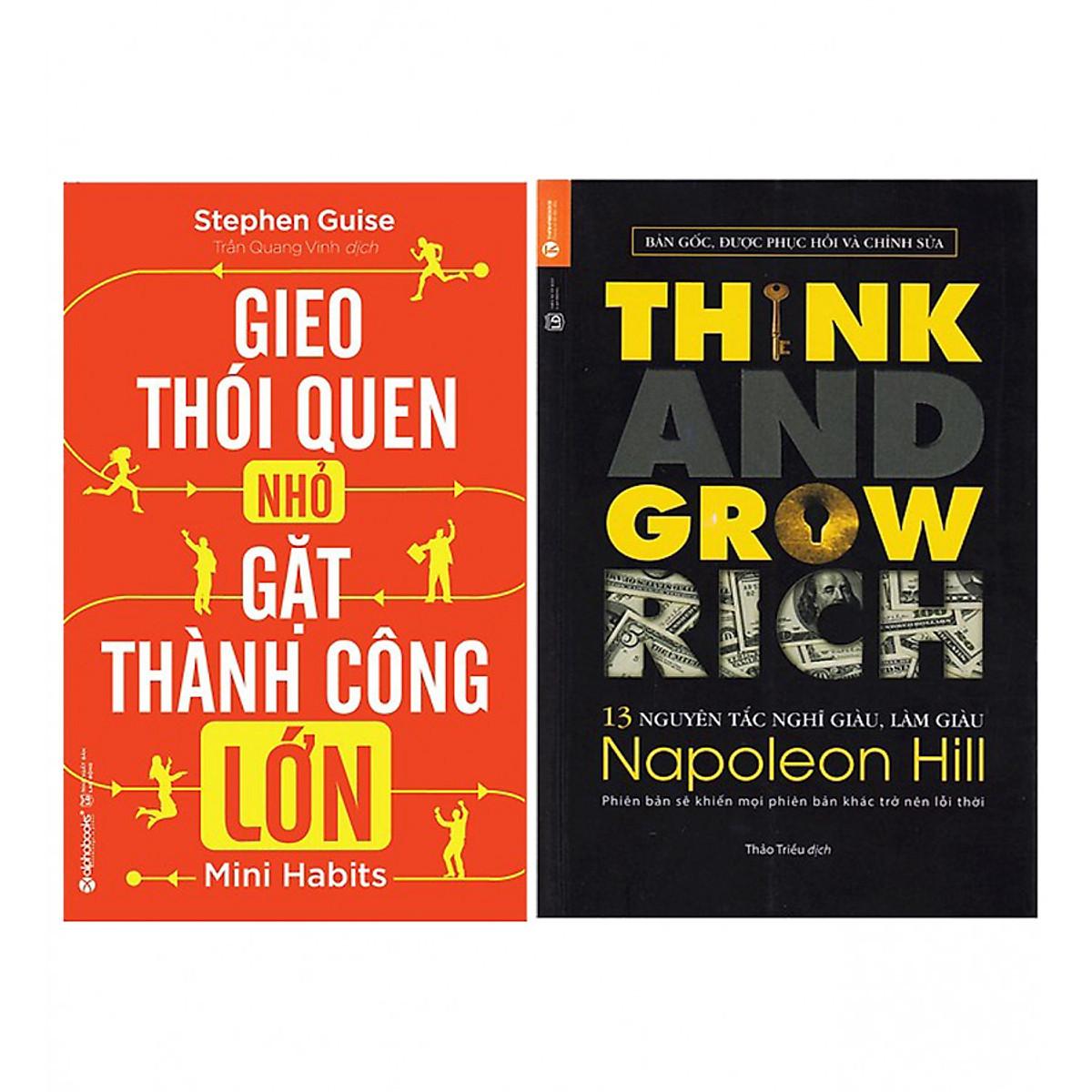 Hình đại diện sản phẩm Combo Gieo Thói Quen Nhỏ, Gặt Thành Công Lớn (Tái Bản 2018) + 13 Nguyên Tắc Nghĩ Giàu Làm Giàu - Think And Grow Rich (Tái Bản)