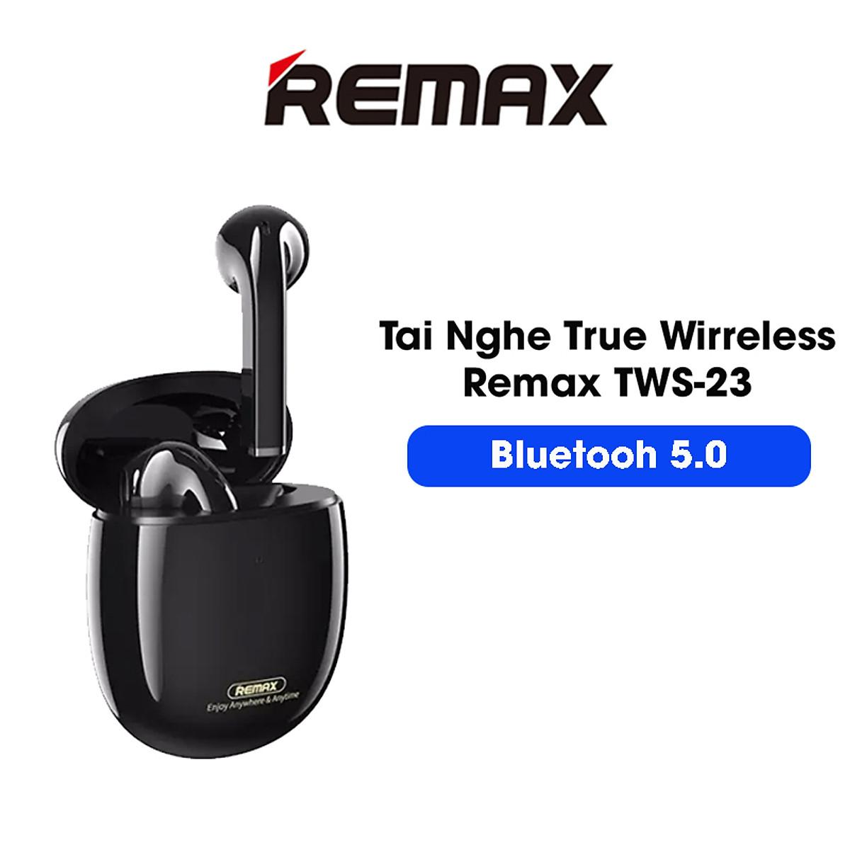 Hàng chính hãng) Tai nghe Bluetooth Remax TWS-23 Bluetooth 5.0, phạm vi kết  nối 10m, âm bass cực hay | Baseus Viet Nam