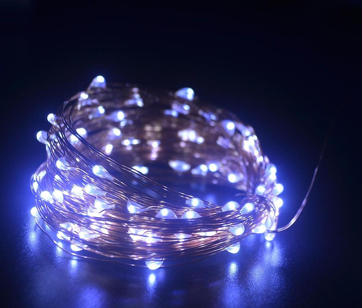 Dây đèn Fairy Light đom đóm chipsbling 10 mét dùng pin AA 23