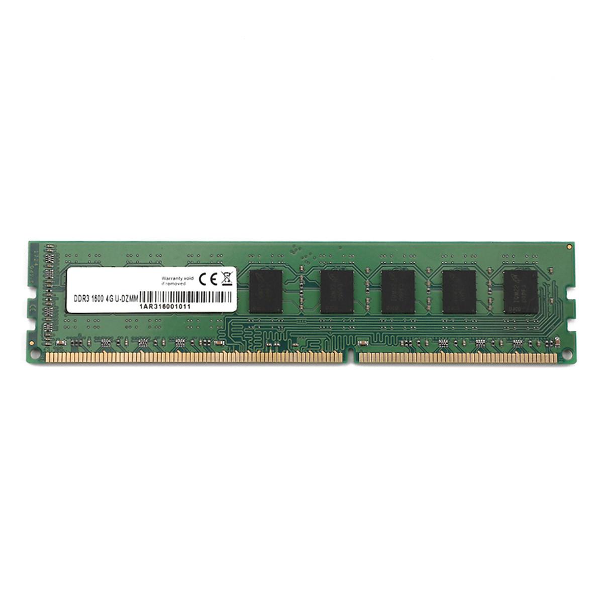 Hình đại diện sản phẩm MBDDR3091600 DDR3 4G RAM 1600MHz 240PIN 1.2V DIMM Desktop Memory Green 4GB