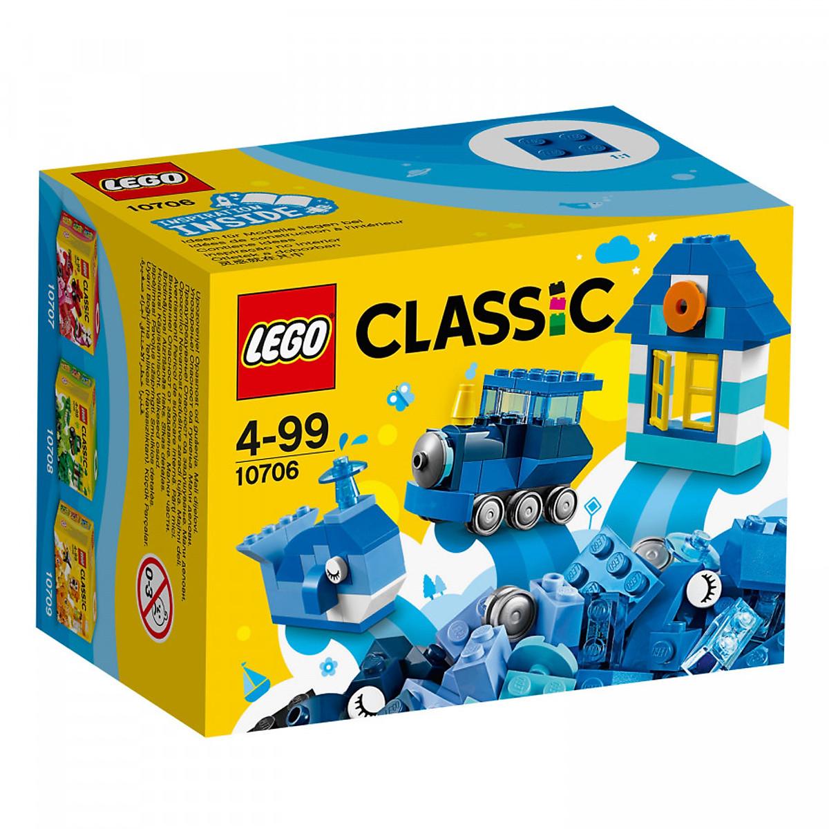 Đồ chơi Lego Classic 10706 - Hộp lắp ráp màu xanh da trời