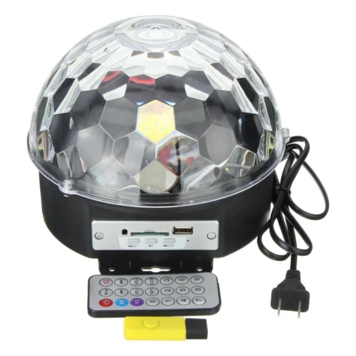 Combo Đèn LED Xoay Sân Khấu Cảm Ứng Nhạc + USB +Remote