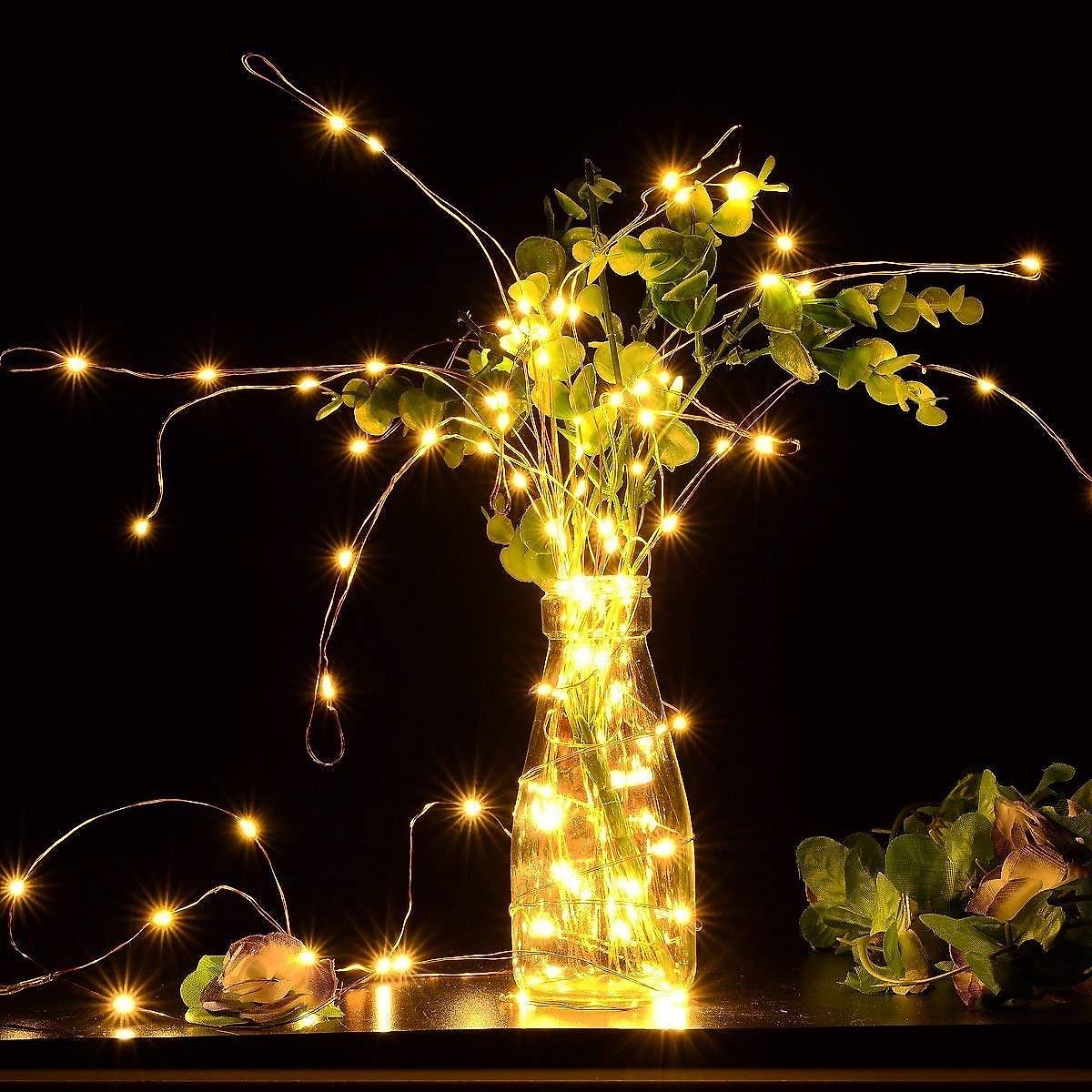 Dây đèn Fairy Light đom đóm chipsbling 10 mét dùng pin AA - 6
