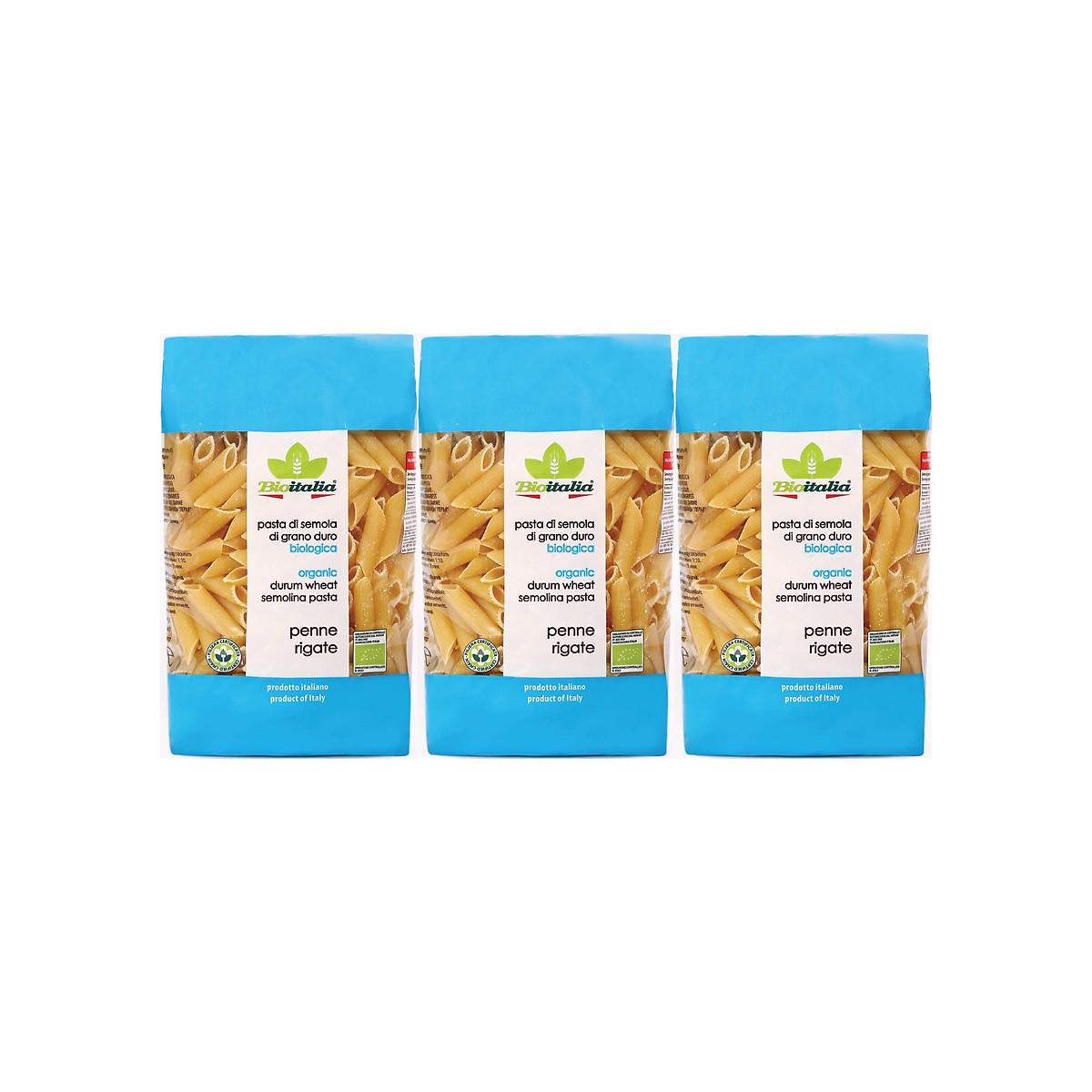 Nui Ống Dài Penne Rigate Hữu Cơ BioItalia (500g)Lốc 3 gói
