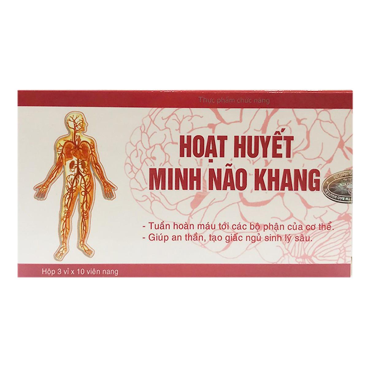 Hình đại diện sản phẩm Thực Phẩm Chức Năng Dân Khang Pharma Hoạt Huyết Minh Não Khang (30 Viên / Hộp)