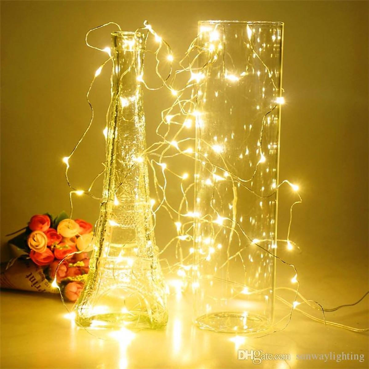 Dây đèn Fairy Light đom đóm chipsbling 10 mét dùng pin AA 18