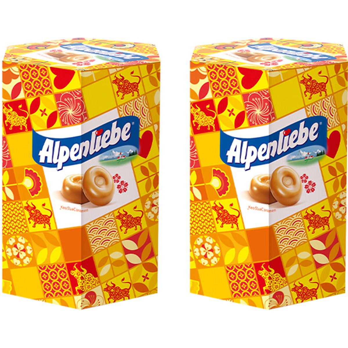 Combo 2 Hộp Kẹo Tết Alpenliebe Sữa Caramel (Hộp 40 viên)