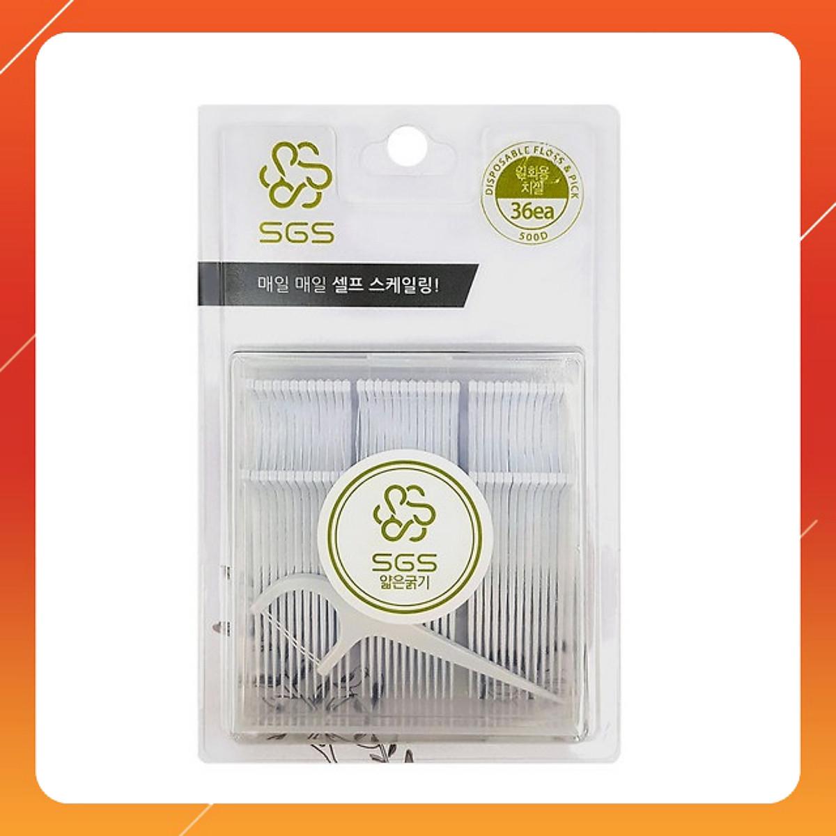 Tăm chỉ kẽ răng SGS nhập khẩu Hàn Quốc - 36 cây/hộp