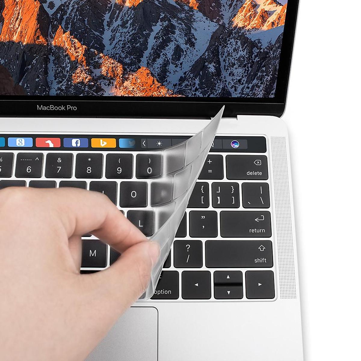 Phủ bàn phím MacBook Pro Touch Bar 13 / 15 inch hiệu JCPAL FitSkin - Trắng