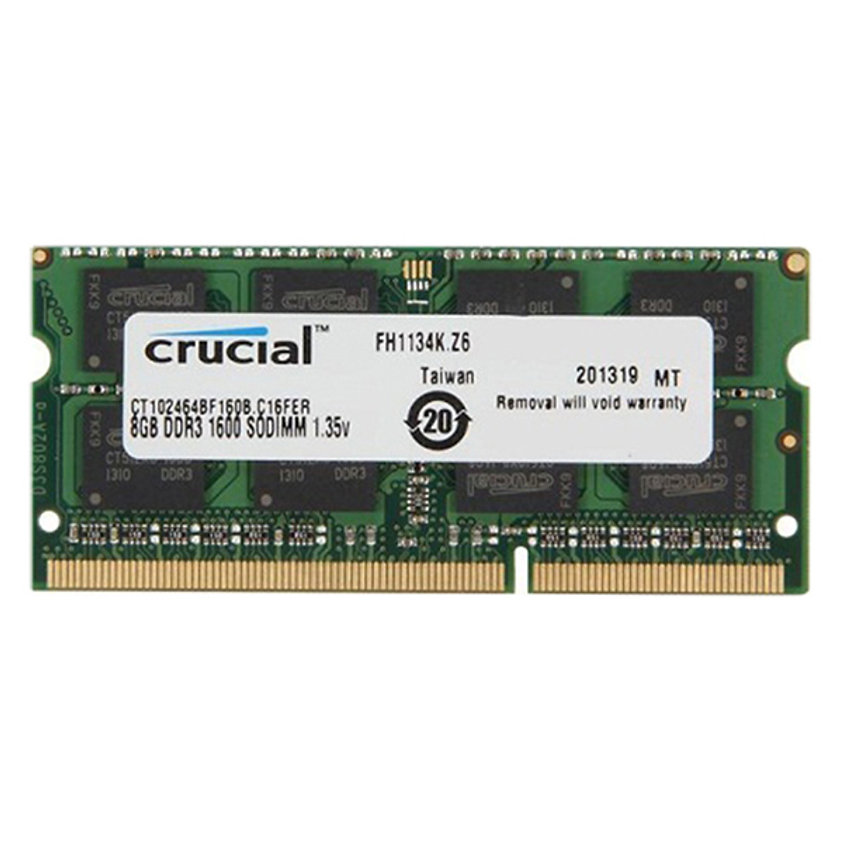 Hình đại diện sản phẩm RAM Laptop Crucial 8GB DDR3L Bus 1600MHz - Hàng Nhập Khẩu