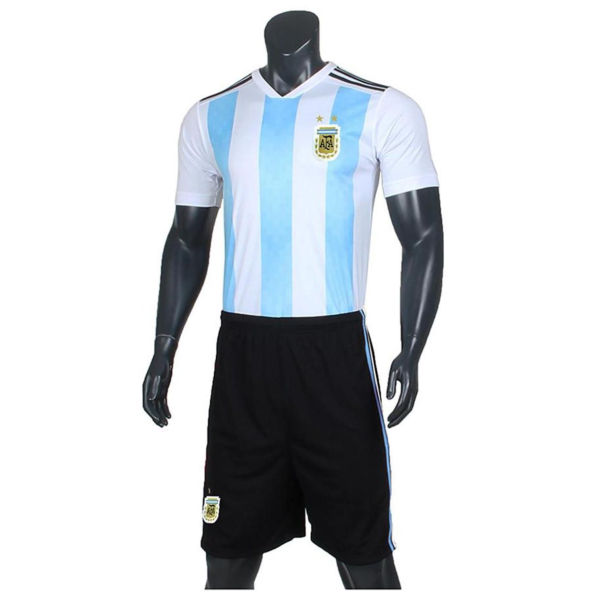 Bộ Quần Áo Bóng Đá Đội tuyển Argentina sân nhà World Cup 2018 Sportslink (Sọc)