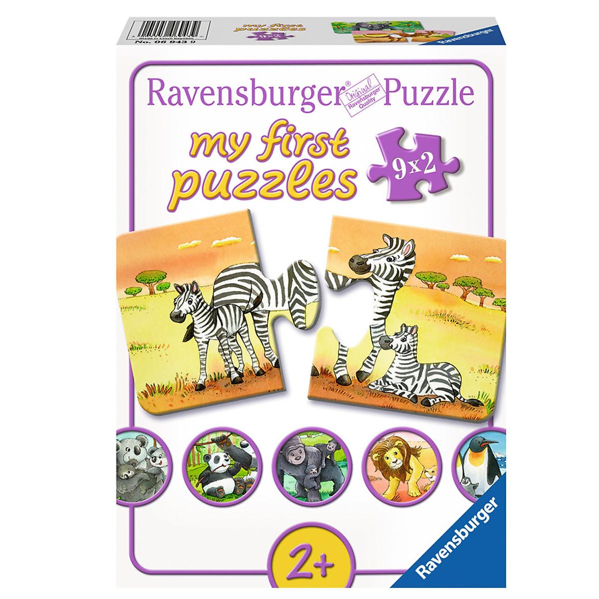 Xếp Hình Puzzle Gia Đình Thú Cưng Ravensburger RV06943 9 (9 Bộ 2 Mảnh)