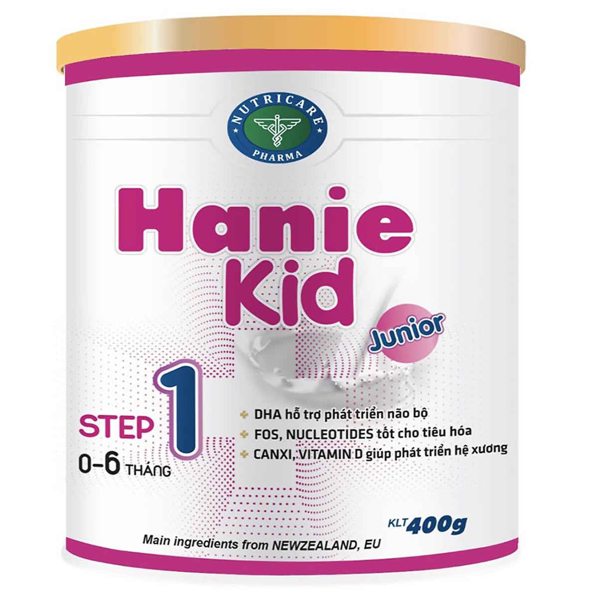 Sữa bột Hanie Kid 1 dành cho trẻ biếng ăn & suy dinh dưỡng 0-6 tháng tuổi  (400g) | Tiki.vn