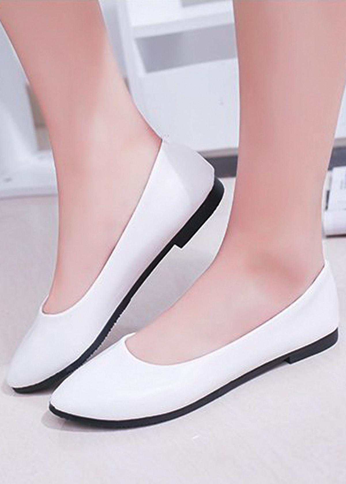 Giày búp bê da bóng mềm không đau chân , dáng chuẩn 96309 50