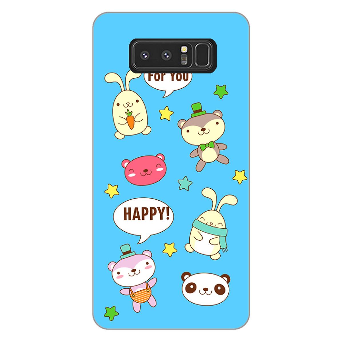 Ốp lưng dẻo cho điện thoại Samsung Galaxy Note 8 _0514 HAPPY02 - Hàng Chính Hãng