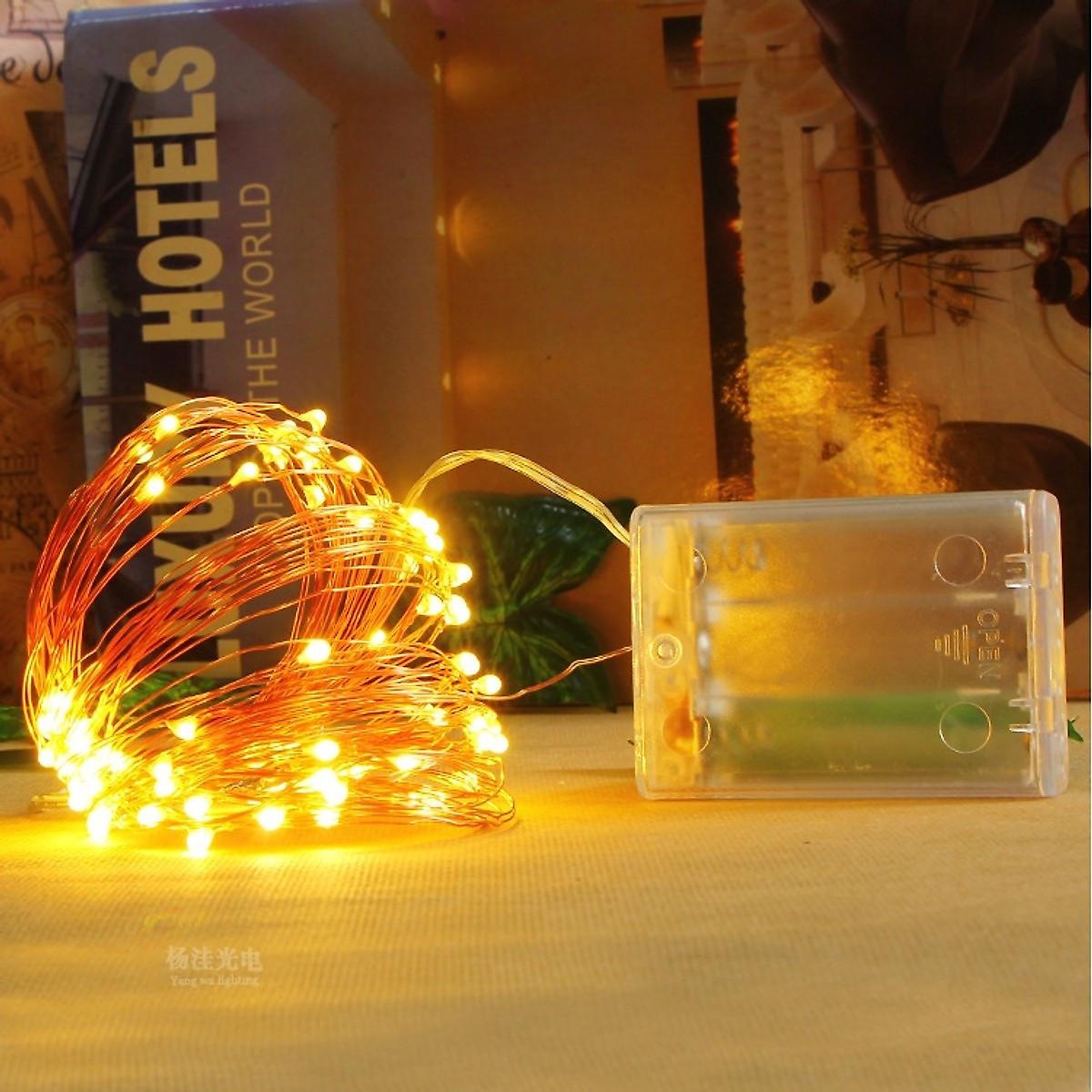 Dây đèn Fairy Light đom đóm chipsbling 10 mét dùng pin AA 21
