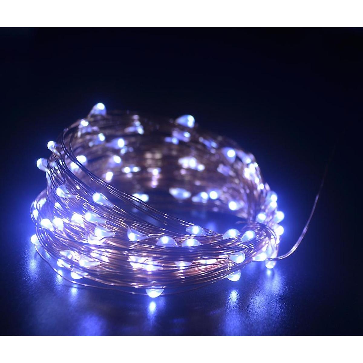 Dây đèn Fairy Light đom đóm chipsbling 10 mét dùng pin AA 8