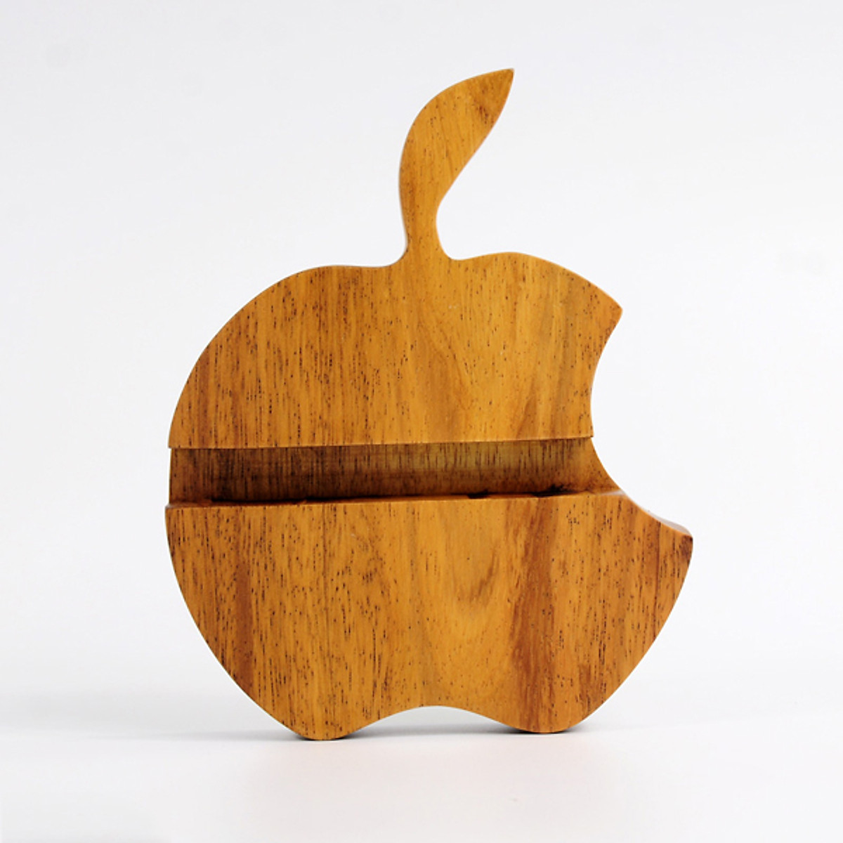 Đế dựng dành cho điện thoại, máy tính bảng hình quả táo bằng gỗ