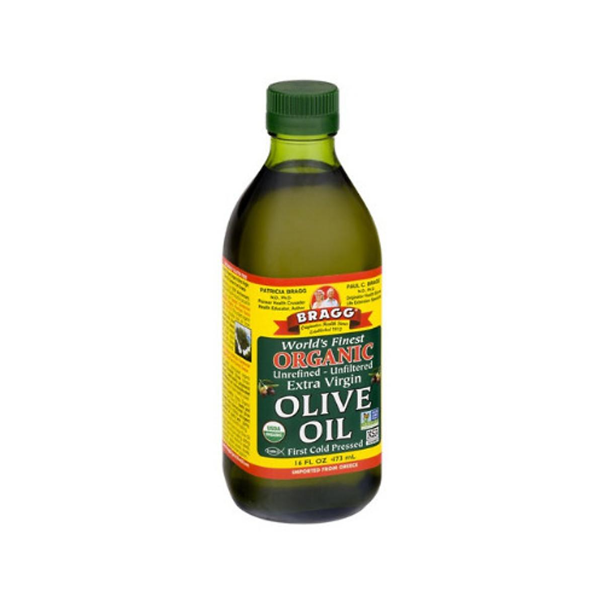 Dầu Olive Ép Lạnh Hữu Cơ Bragg 473ml - Extra Virgin Olive Bragg 473ml   Tiki