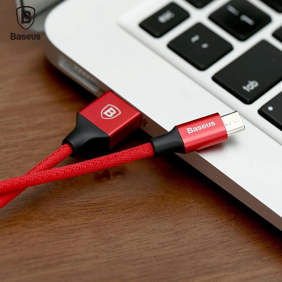 Cáp sạc USB ra Micro USB Baseus Yiven dài 1m - Hàng chính hãng 8