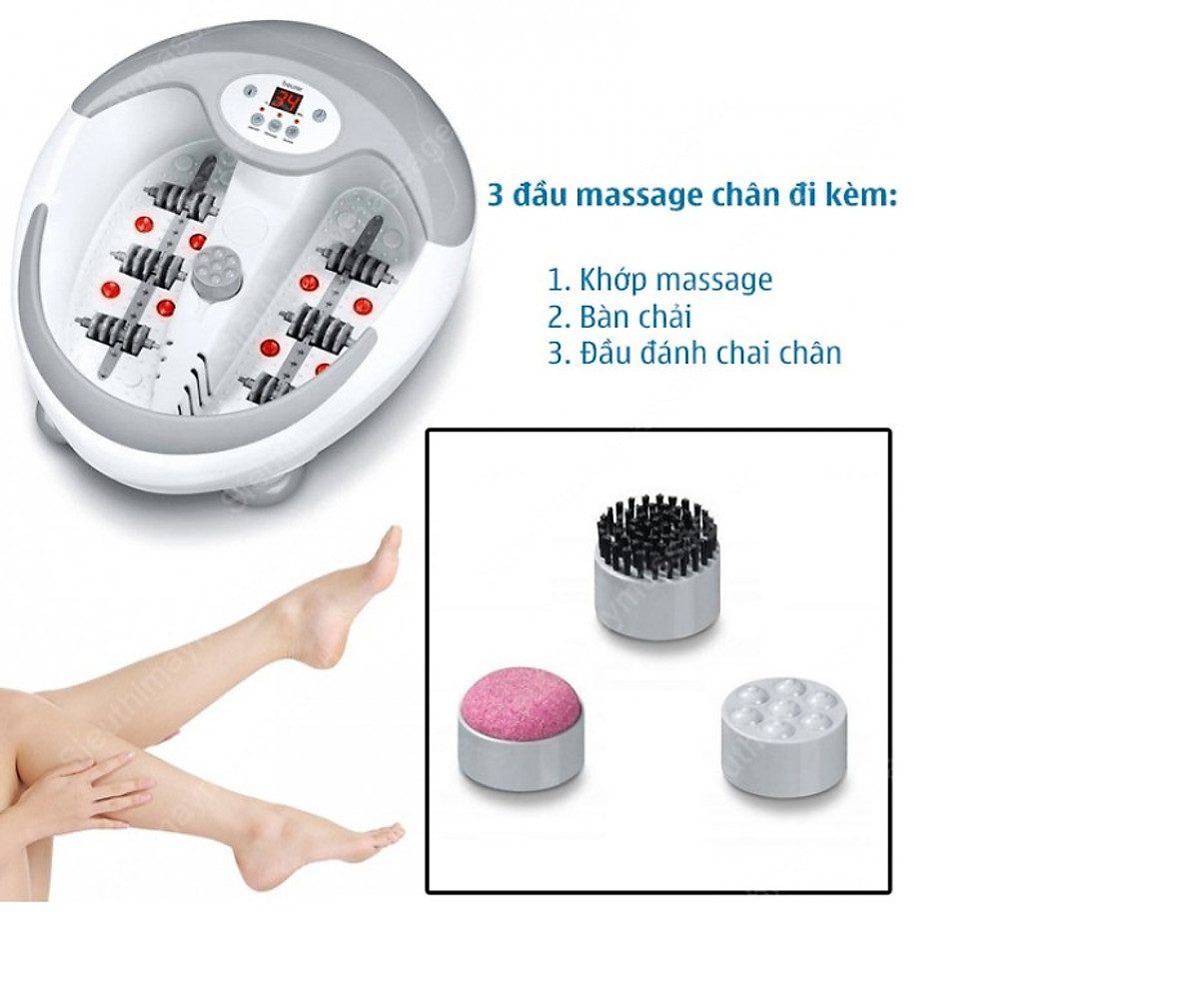 Bồn ngâm chân Massage 8 đèn hồng ngoại Beurer FB50 - 2