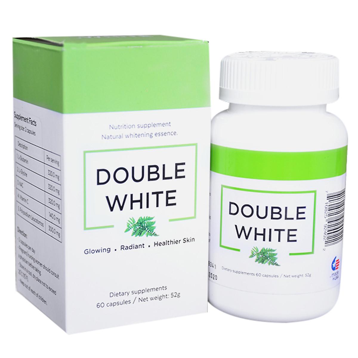 Double White ] Viên uống trắng da, chống nắng, giảm nám từ Mỹ ...