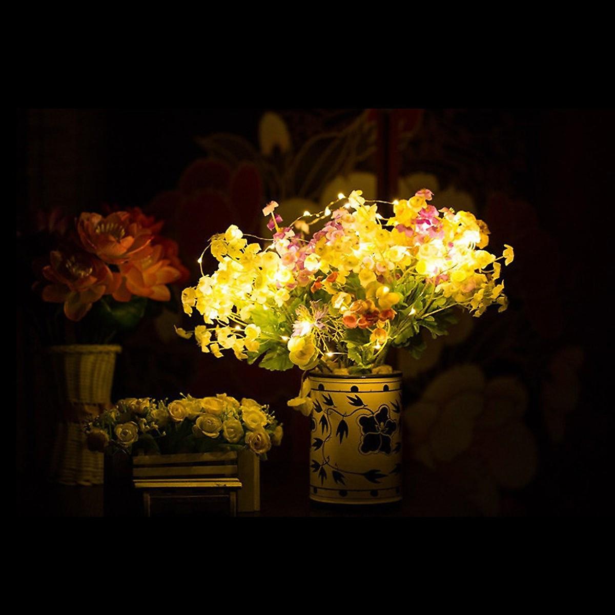 Dây đèn Fairy Light đom đóm chipsbling 10 mét dùng pin AA 16