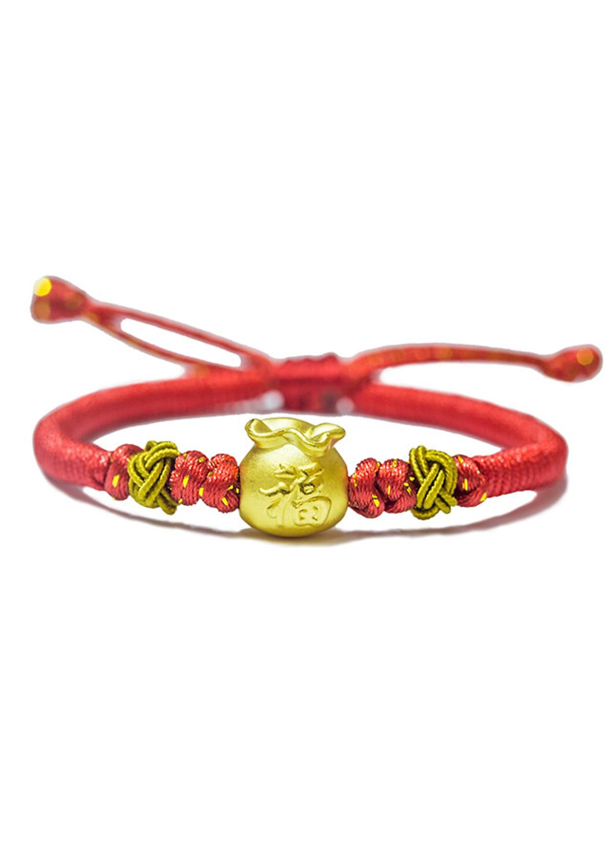 Hình đại diện sản phẩm Vòng tay Handmade charm Túi đựng tiền vàng 24K Ancarat