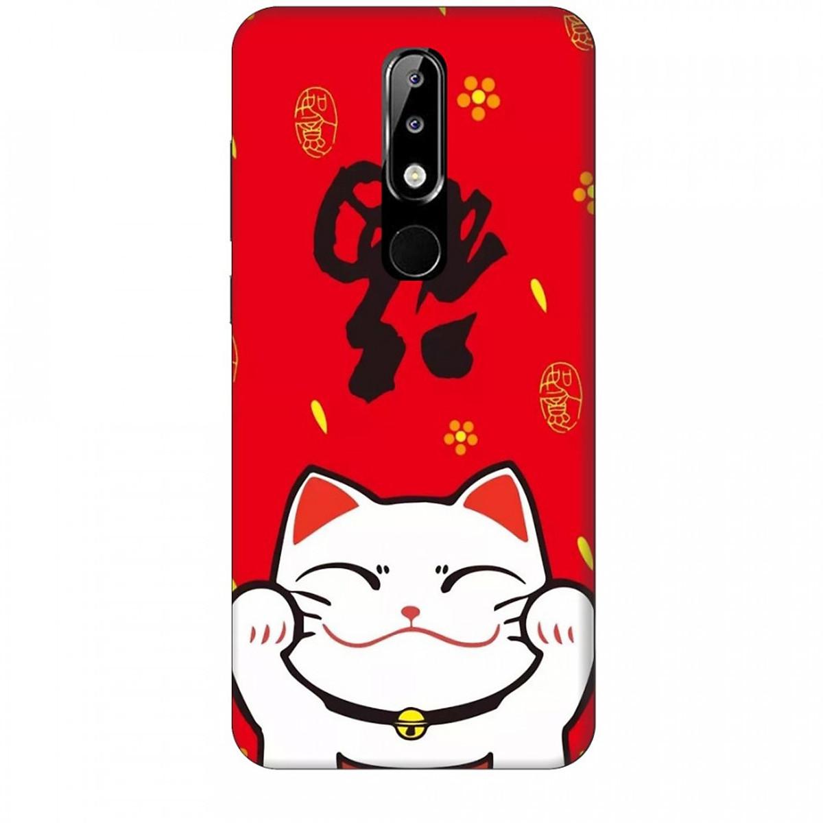 Ốp lưng dành cho điện thoại NOKIA 5.1 Plus Mèo Thần Tài Mẫu 5