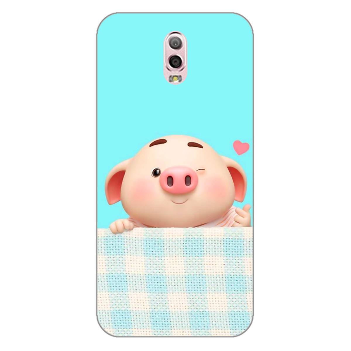 Ốp lưng dẻo cho điện thoại Samsung Galaxy J7 Plus _Pig Cute 07