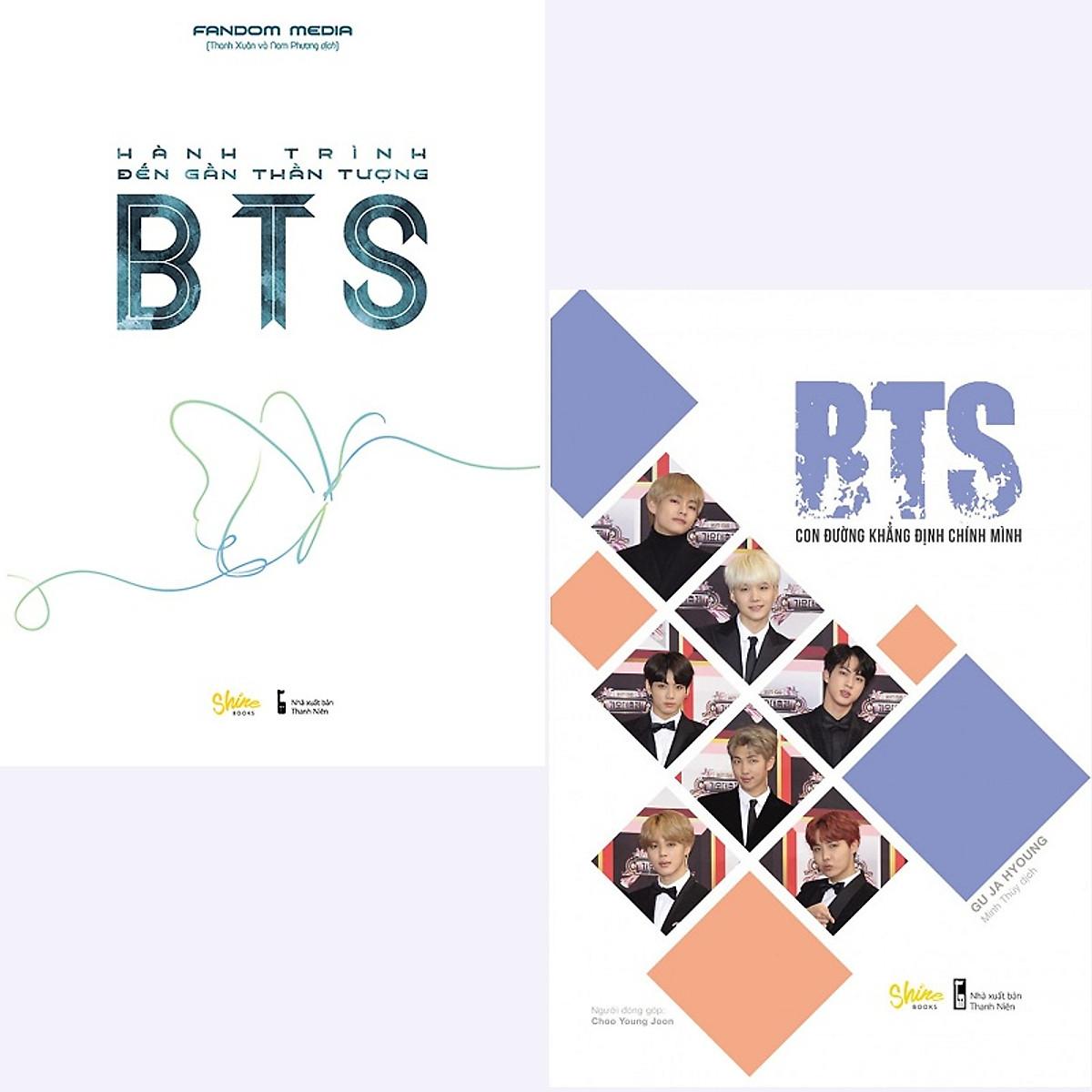 Hình đại diện sản phẩm Combo BTS Con Đường Khẳng Định Chính Mình và Hành Trình Đến Gần Thần Tượng