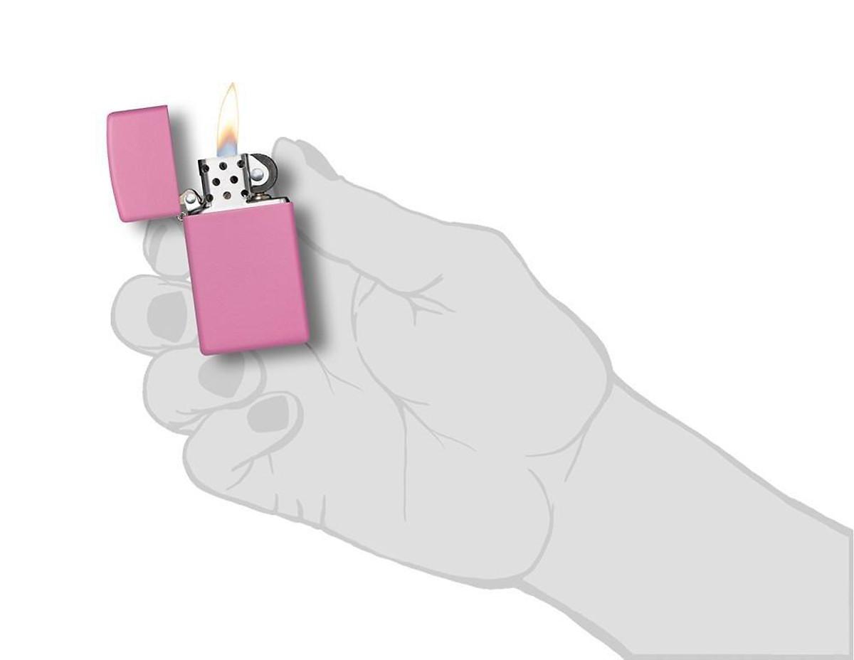Bật Lửa Zippo 1638 Slim Pink Matte