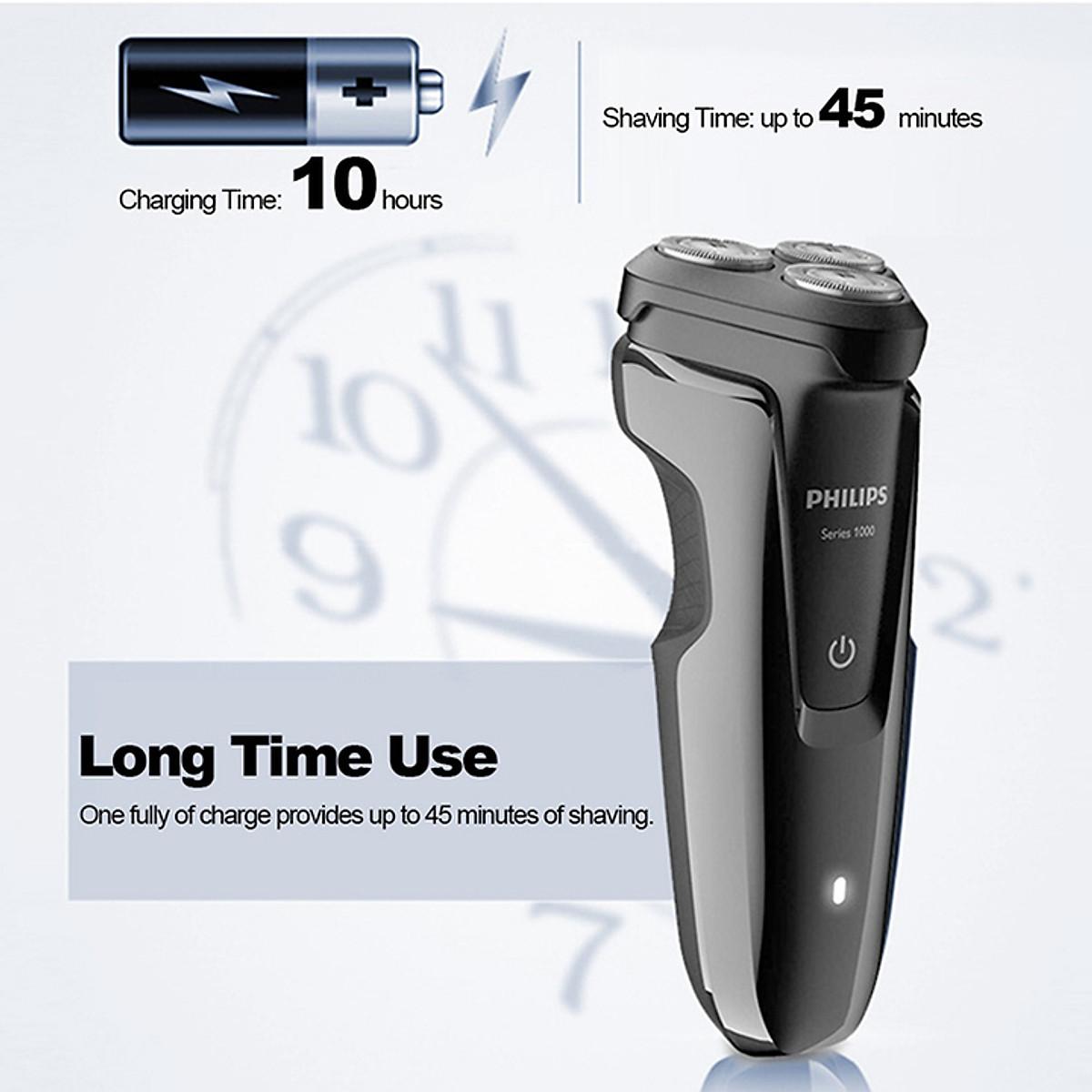 Máy cạo râu 3 lưỡi Philips S1010 - Hàng chính hãng